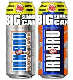 Irn Bru Big Summer Cans (500ml) Only 49p Instore @ Home Bargains