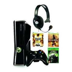 Xbox 360 Slim 4GB Console With 3 Games (Saints Row 2 Classics, Prince of Persia: Forgotten Sands, Fallout 3 Classics.) & Headset  £135.99 (using code W20TWITTER) delivered @ Bargain Crazy