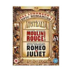 Baz Luhrmann's Epic Romances Box Set : Romeo & Juliet / Moulin Rouge / Australia (3 Discs) (Blu-ray) £16.99 @ Play