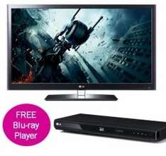 """LG 42LW550T - 42""""3D LED + 7 pairs of glasses + Blu Ray Player - £849 (£749 with sky cashback) @ Electro Centre (Digital Point)"""