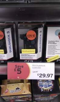 Official Sony PS3 Dualshock Controller £29.97 in store at Sainsburys (Save £5)
