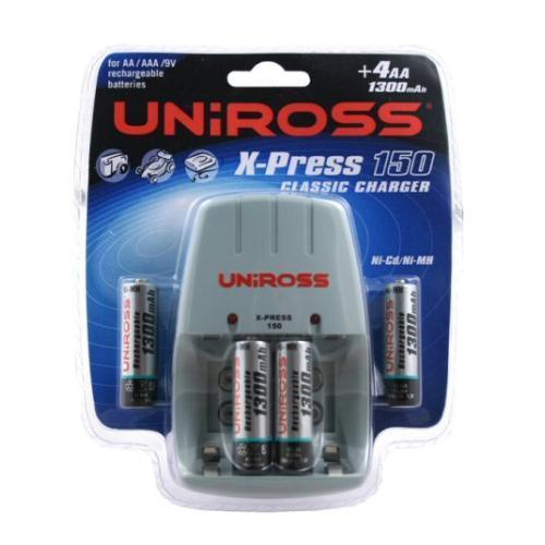 Uniross Xpress 150 Charger + 4 AA NiMH 1300mAh Batteries Play £5