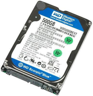 """Western Digital Scorpio Blue 500GB Sata 8MB Cache 2.5"""" HD PS3 Compatible for £38.98 @ Amazon"""