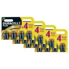 32 PACK Duracell Plus MN1500 Alkaline AA Batteries NOW £9.89 delivered @ amazon