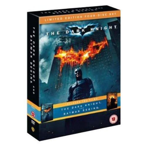 The Dark Knight / Batman Begins Double Pack (DVD) (4 Disc) - £5.99 @ HMV & Amazon