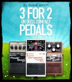 Buy 2 Boss Compact Pedals and Get a 3rd Free (Buy Instore and Claim on Roland Website) @ Roland/Boss