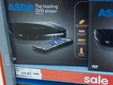 Top Loader DVD Player down to £12.97 @ ASDA (In-Store)