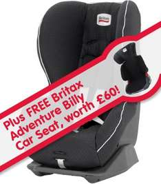 KIDDICARE - Britax Car Seats - buy Britax Prince £89.99 and get Britax Adventurer Free!! + Free Sunblinds with every car seat!!