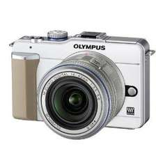 Olympus pen E-PL1 Compact System Camera - White (14-42mm Silver Lens Kit)  now £279 delivered @ amazon
