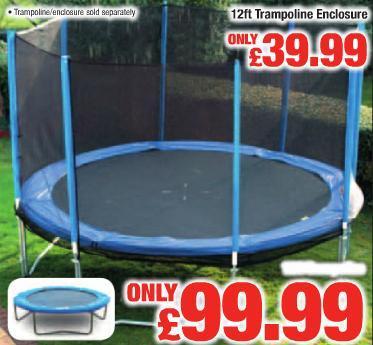 12ft Trampoline £99.99 @ Netto from Thursday