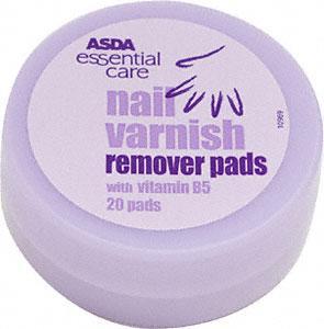 Newport Asda, Nail Varnish Remover Pads 2p instore