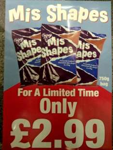 Mis Shapes 750g £2.99 @ Cadbury Factory Shop (Swindon)