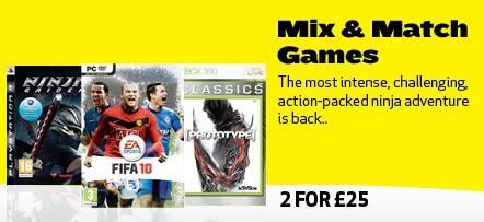 Mix & Match Games 2 for £25 Delivered @Bestbuy