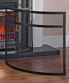 Curved Pewter Effect Bow Fire Screen just £13.99 (was £44) @ Argos