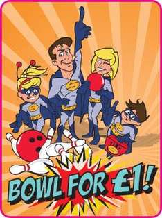 Bowl for £1 This Half Term @ Hollywood Bowl