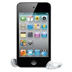 APPLE IPOD TOUCH 4TH GEN 8GB BLACK/SILVER+ FREE SPEAKER REFURBISHED WITH A 12 MONTH TESCO OUTLET WARRANTY