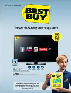 "LG 42LD490 42"" Smart LCD TV with Dynex 6ft HDMI Cable £349.99 @ BestBuy"