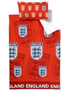 England Single Duvet Cover set (buy one get one FREE!) £6.00 (exc. delivery) @Woolworths