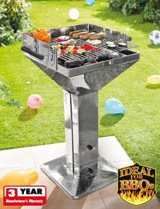 Stainless Steel Pedestal Barbecue @Lidl  from 02/06/2011