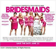 Free Screening for Bridesmaids - Tuesday 7th June 6.30pm @ Sky Rewards