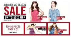 Sale, plus 20% off non-sale items, and free delivery on everything @ New Look