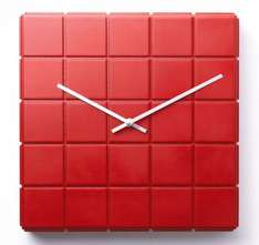 Red Cubes Wall Clock @ Argos E-bay Outlet.Under A Fiver Fantastic.