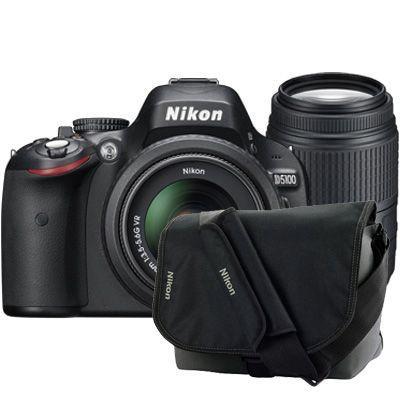Nikon D5100 + 18-55mm VR + 55-300mm VR + bag £799 at Jacobsdigital