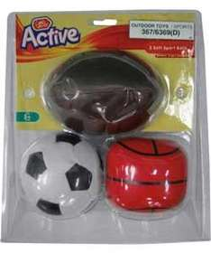 Chad Valley Soft Soccer, Basketball and Rugby Ball Set £1.49 R&C @ Argos