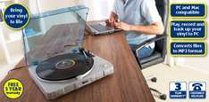 USB Turntable to convert Vinyl to MP3 £34.99 from Sun 29th May @ Aldi