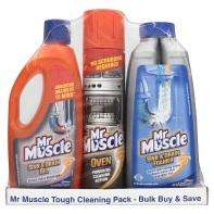 Mr Muscle Tough Cleaning Pack (Oven Cleaner , Sink & Drain, Sink & Drain Gel) £3 at Asda (other offers in post)