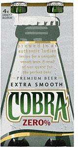 Cobra Zero £1.82 for 4 but as 3 for 2 it is only £3.64 for 12 @ Tesco
