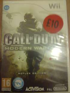 Call of Duty Modern Warfare Reflex for Wii, in-store at Sainsburys for £10