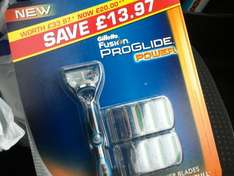 gillette fusion proglide power with 7 blades £10 @ Tesco