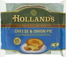 Hollands Cheese and Onion Pies 50p each at Asda