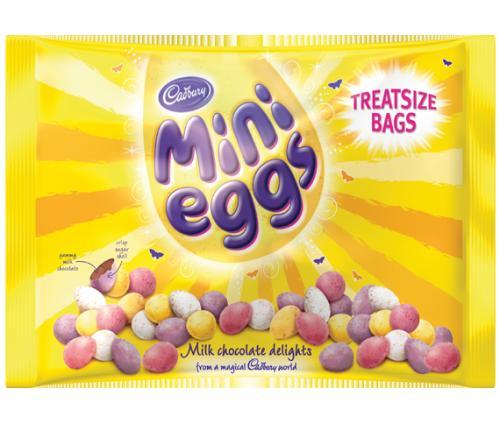Cadburys mini eggs bag of 8x31g treatsize bags 251g in total £1 @ tesco