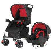Obaby Monty Travel System, Red & Black @ Tesco Direct £85 (£70 with code) + CC points and quidco