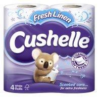 2 x 4pk Cushelle Fresh Linen Toilet rolls £1.00 (8 rolls for £1, use coupons) @ Waitrose