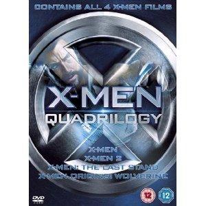 X-Men Quadrilogy - X-Men, X-Men 2, X-Men: The Last Stand, X-Men Origins: Wolverine [DVD]  £8.00 Delivered @ Amazon