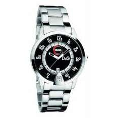 AMAZON - D&G Men's Watch DW0624 with Black Analogue Dial, Day/Date, Stainless Steel Case and Bracelet  -  £ 57.75