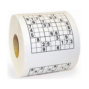 Sudoku Toilet Roll. was £4.99 now £1.50  + £2.99 P&P from AMAZON (Via Safield Dist. Ltd )