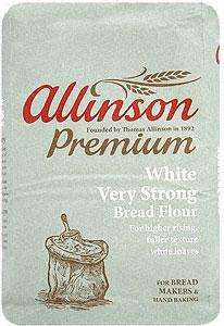 Allinson Bakers' Grade Very Strong White Bread Flour (1.5Kg), Allinson Wholemeal Plain or Self - Raising Flour (1Kg) 2 bags for £2 at Sainsburys