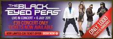 Black Eyed Peas live in concerts - only £39! 1000 tickets only