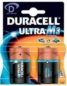 Duracell Ultra M3 D 2 Pack only 40p @ Tesco!!!!