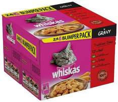 Whiskas Traditional Dishes in Gravy 48 Pouches £7.40 delivered at Amazon Half Price