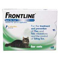 Frontline Spot-On for Cats free P+P new customers - £17.19@ Petmeds
