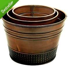 Brass Affect Beaded Planters 3 Pack at Asda was £10 now £2.50