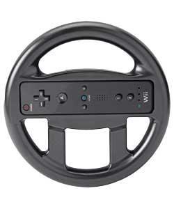 Wii Compatible Wheel - Black & White - Was £5.49, Now Just 99p @ Argos