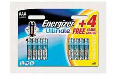 Energizer Ultimate AAA Batteries - 4 Pack + 4 Free - Just £2.29 @ Argos
