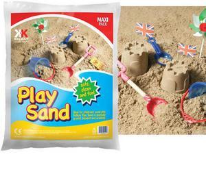 2 x 15kg CHILDREN'S PLAYPIT SAND SANDPIT + 4 FREE SAND SCRAPERS £15.98 @ WOOD&TOTS / Ebay