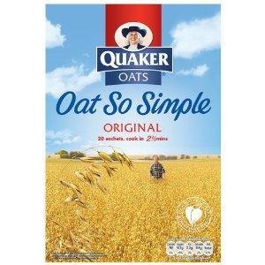Quaker Oatso Simple Porridge Family Pack Original 20 x 27 g - Pack of 10 (200 sachets) - £10.11 delivered @ Amazon
